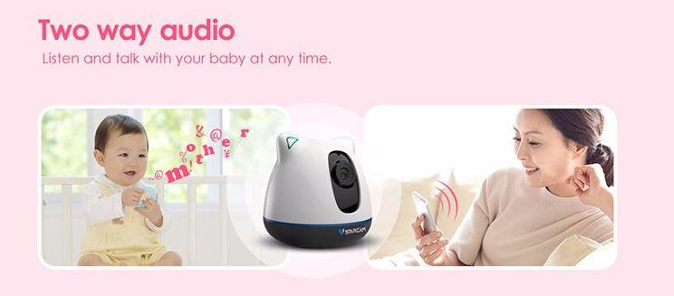 iBear - Baby - Elderly Safety Monitor IP Camera Wifi CCTV - Two Way Audio Communication