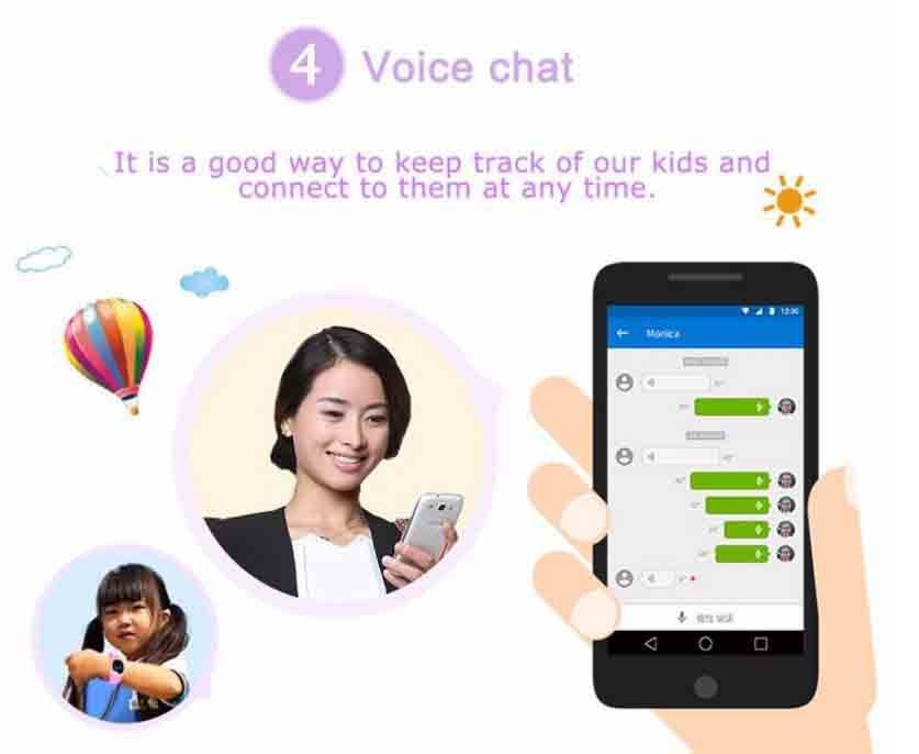 3G Kids GPS Tracker Watch - Voice Chat LR