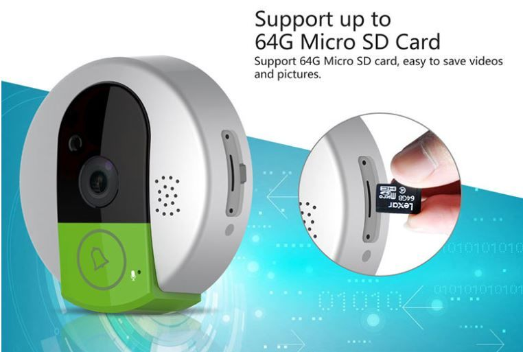 OMGCB03 - Home Video Intercom Emergency Wireless Call Bell Alarm (Wifi) - Support up to 64G Micro SD Card