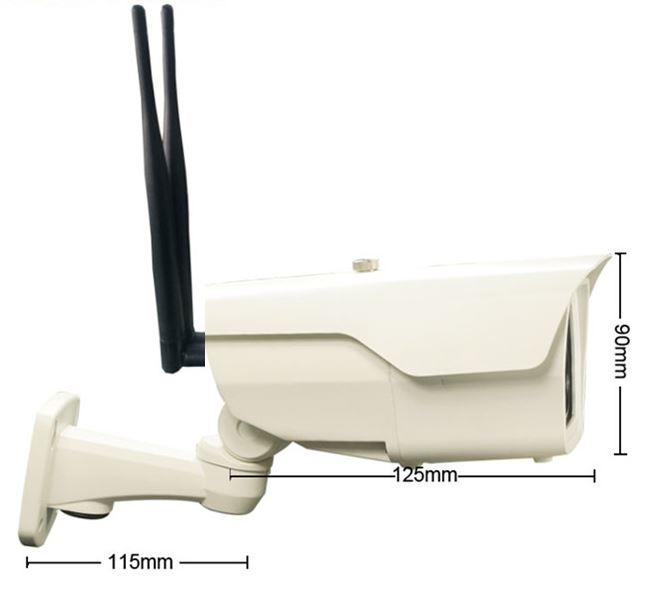3G Sim Card Security Camera with Waterproof Night Vision - Size