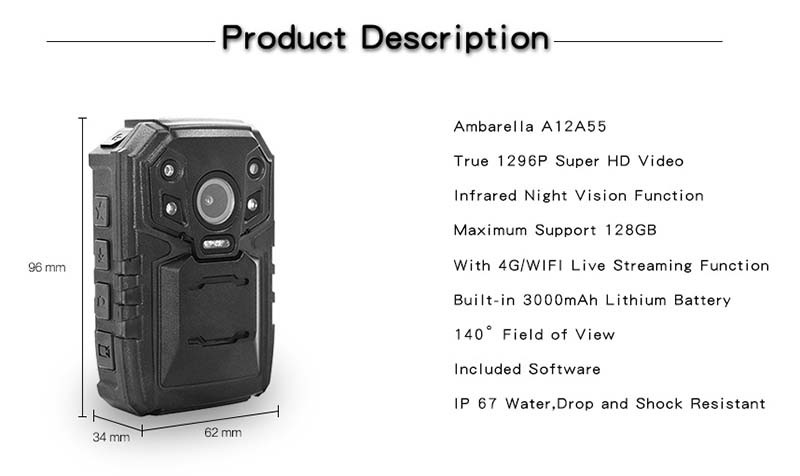 4G Body Worn Camera - Product Description