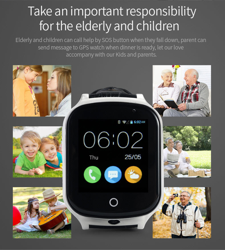 3G GPS Tracker Watch with SOS Call for Kids / Elderly [GPS20W]