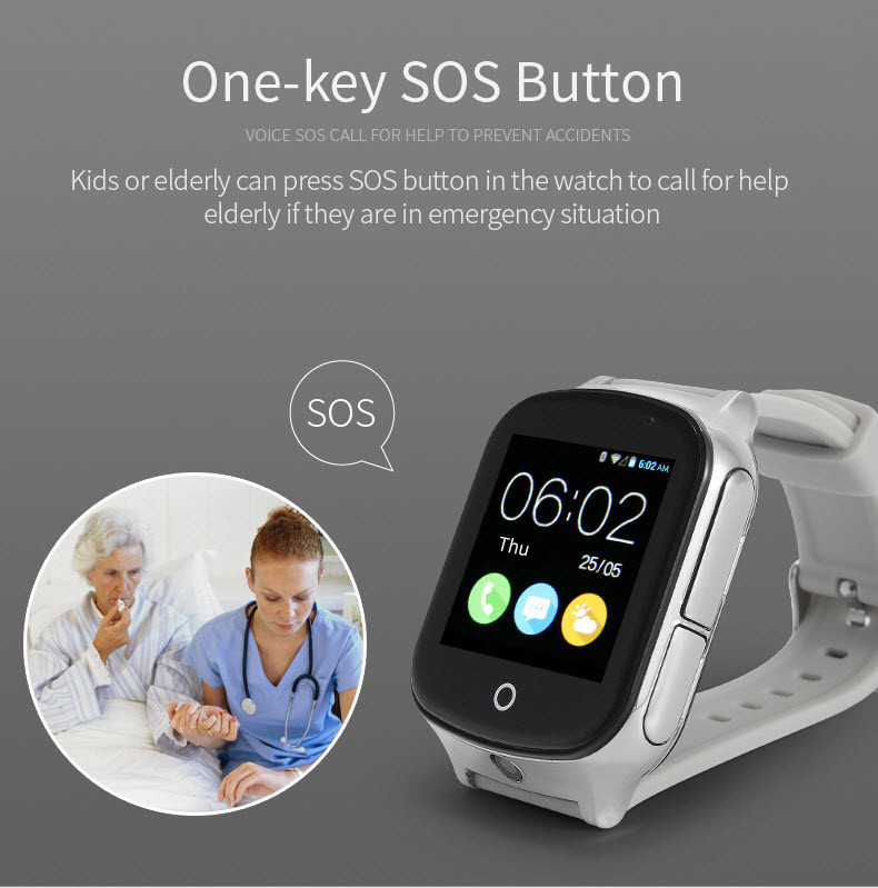 GPS20W - GPS Watch For Kids жана On-ачыш SOS Button Карыларга