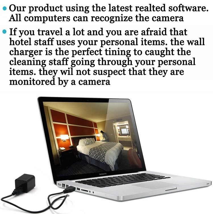 1080P HD USB Seinälaturi Piilotettu Spy Camera - 4