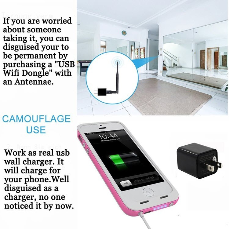 1080P HD USB Wall Charger Hidden Spy Camera - 5