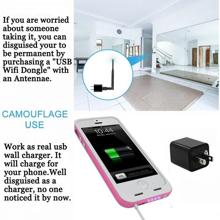 1080P HD USB Seinälaturi Piilotettu Spy Camera - 5