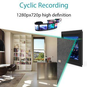 HD 720P Photo Frame Hidden Spy Camera - Ciklično snimanje