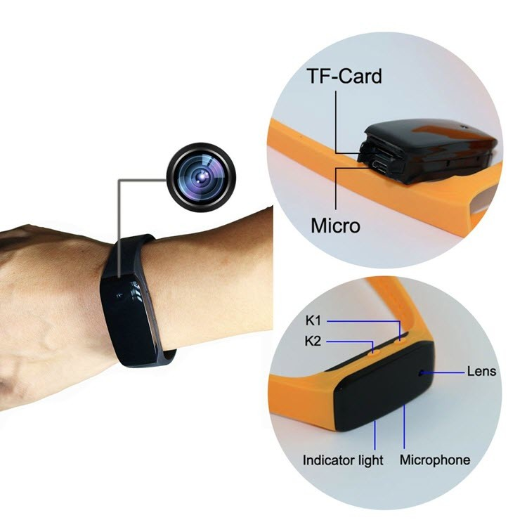 HD1080P Sports Wearable Bracelet Portable Hidden Camera -2