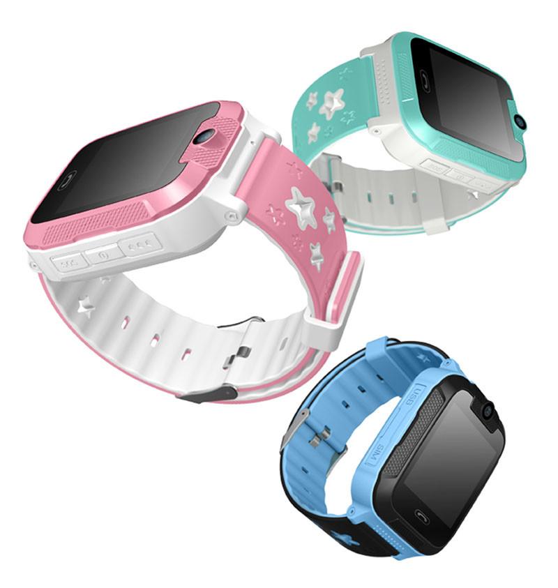 Kids GPS Tracker SOS Phone Watch (GPS21W) - SIde View - 800x
