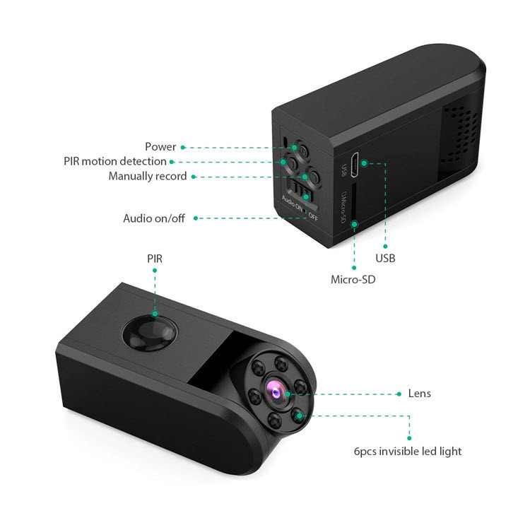 Mini Spy Hidden Camera 720P - 8