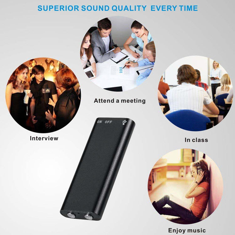 Mini Spy USB Audio Voice Recorder & MP3 Player Flash Drive - 3