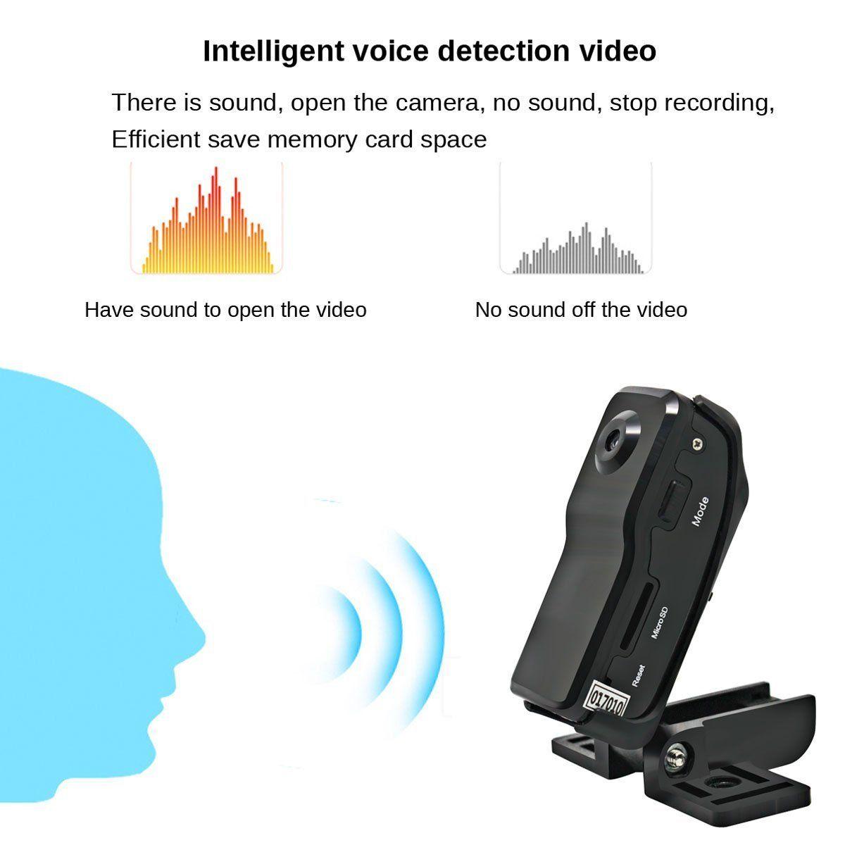 Camera gián điệp mini Camera 960P HD với tính năng phát hiện chuyển động - Video phát hiện bằng giọng nói thông minh