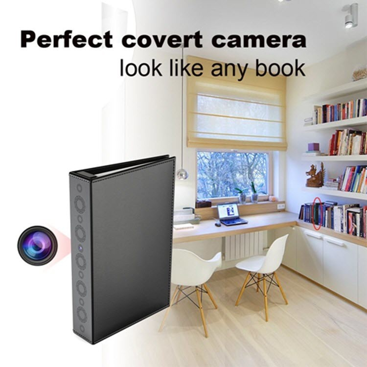 SPY04 - Hidden Spy Book Camera - Perfect Covert Camera