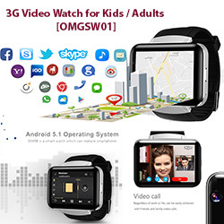 3G Video Smart Watch lapsille / aikuisille [OMGSW01]