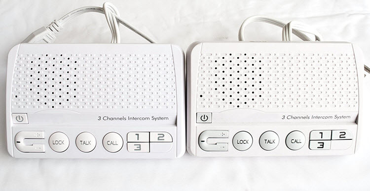 IC07 - OMG 3 Channels HOME Power-line Intercom System, 3 Wire, White, Two Stations Set