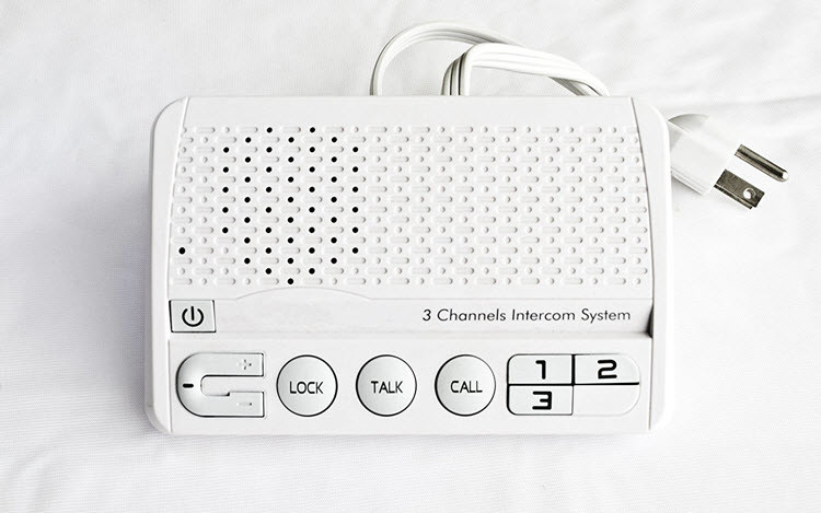 3 Channels HOME Power-line Intercom System, 3 Wire, White, Two Stations Set - 4