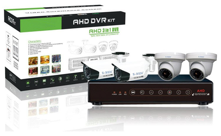 HD 720P 4ch AHD Kit 4channel Touch Panel AHD DVR Kit AHD CCTV Camera System (IP003)