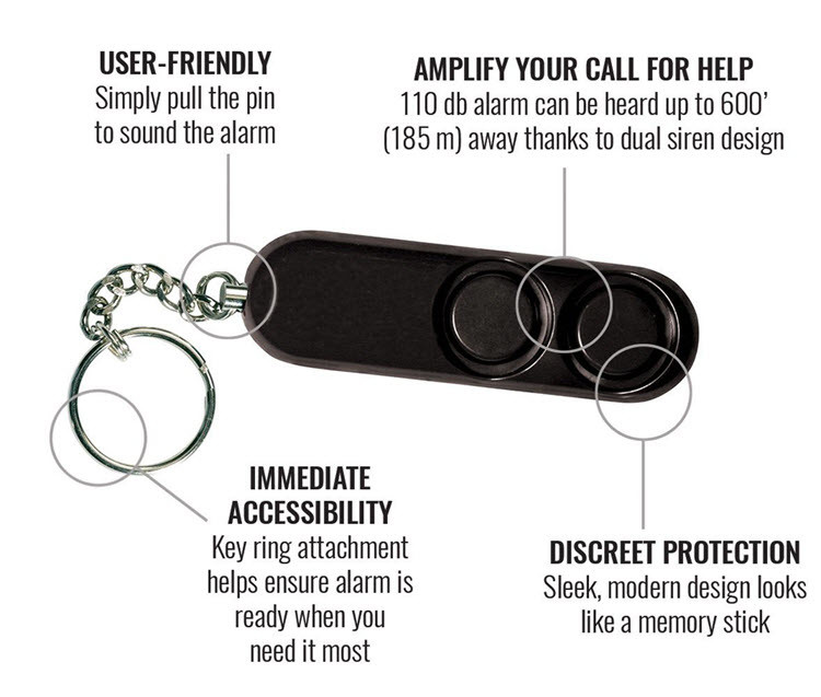 Personal Self Defense Safety Alarm on Key Ring - 2