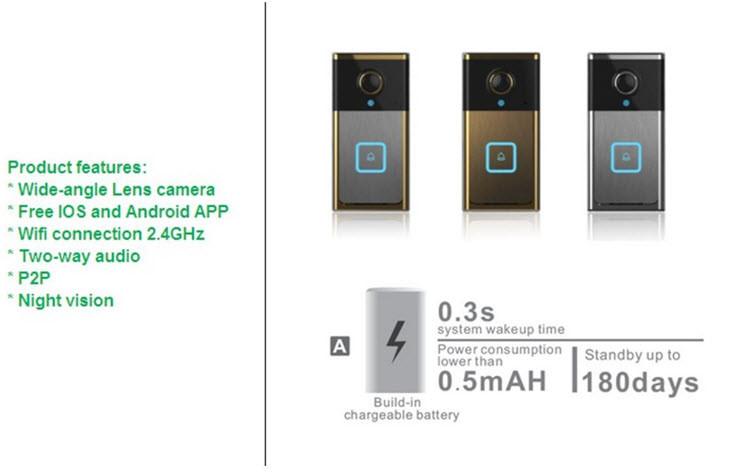 Wifi smart doorbell (IP005)
