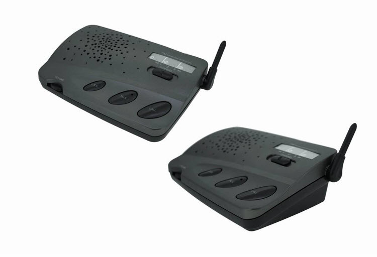 Wireless 3 Channel Home Voice Intercom System for Office Shop - 1