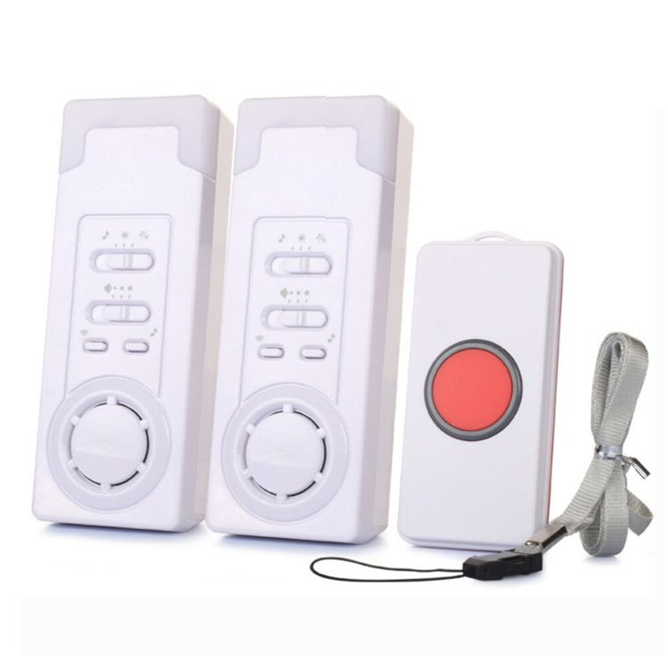 Wireless Emergency Care Alarm Call Button Alert System -500+ft Operating Range (2 in 1) - 1