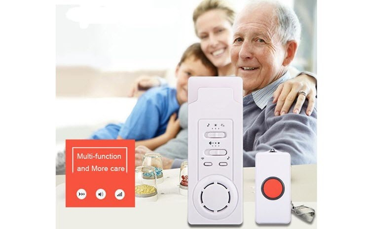 Wireless Emergency Care Alarm Call Alert System Button -500 + ft Operating Range (2 in 1) - 8