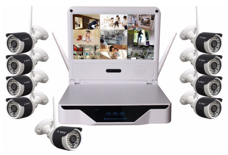 Wireless LCD 10.1 inch LCD screen NVR HD resolution - 1