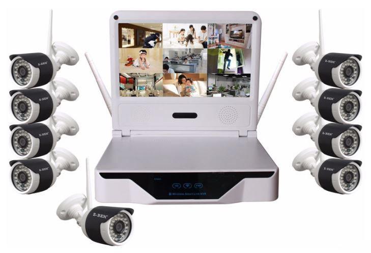 Wireless LCD 10.1 inch LCD screen NVR HD resolution (IP002)