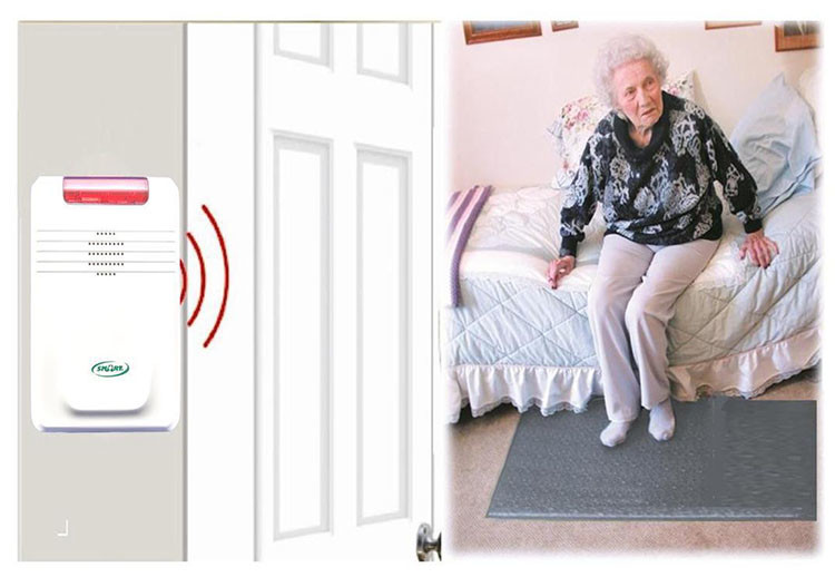 EA021 - Wireless Floor Mat Alarm for Home [Elderly Fall Prevention] - $550