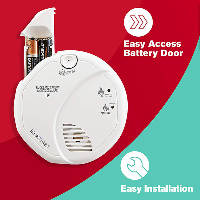 Smoke and Carbon Monoxide Detector, Battery Operated - 5