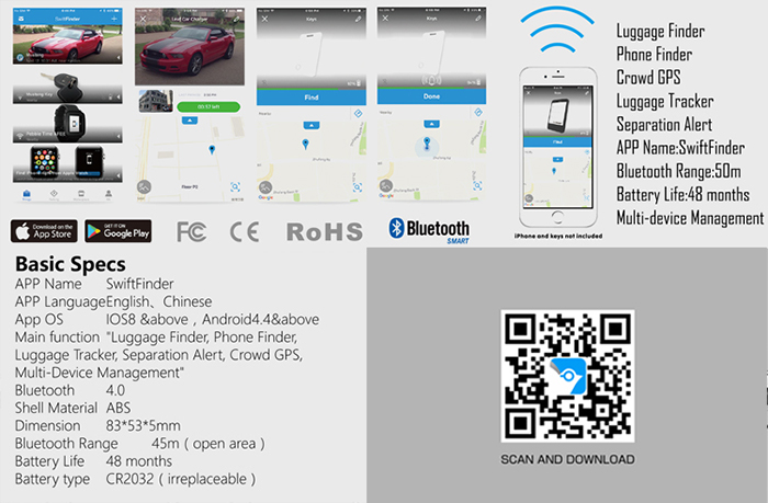 Crowd GPS Bluetooth Mini Anti Lost Finder for Staff, Elderly, Kids, Luggage - 5