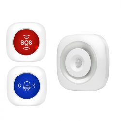 EA040 - OMG 3 sa 1 Wireless Nurse Call Caregiver Pager, SOS calling alert alarm system, Motion sensor night light