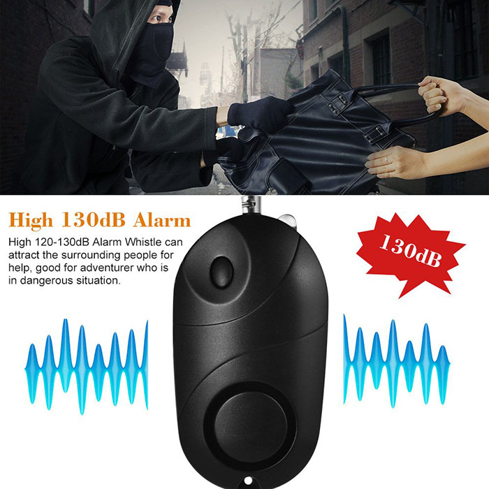 Personal Alarm Mini Loud 120-130dB Self Defense Keychain Security Alarm with LED - 2