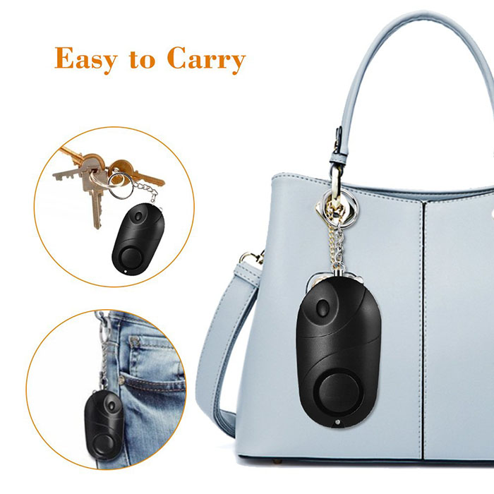 Personal Alarm Mini Loud 120-130dB Self Defense Keychain Security Alarm with LED - 3