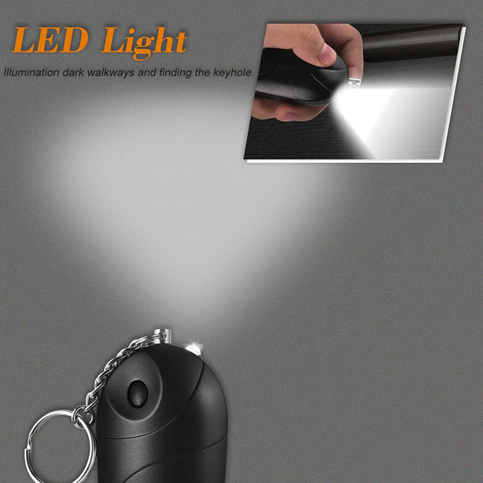 Personal Alarm Mini Loud 120-130dB Self Defense Keychain Security Alarm with LED - 5