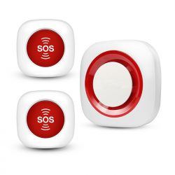 EA042 - OMG Wireless Wireless Portable Smart Nursing Call alarm por Maljunuloj / Paciento / Handikapita / Persona Zorganto Voki Pago
