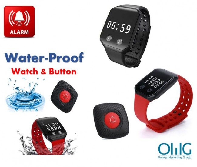 I-EA046 - Uhlelo Lokubiza olungenantambo le-OMG ngeRegiverable Wireless Call Watch Receiver & Call Button - S $ 325