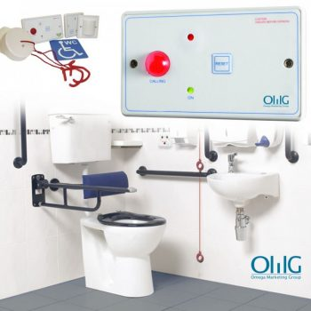 EA048 - OMG Disabled Handicap Toilet Pull String Alarm Kit - Kiʻi Nui