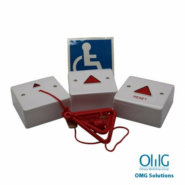 EA049 - Disabled Handicap Toilet Pull String Alarm Kit