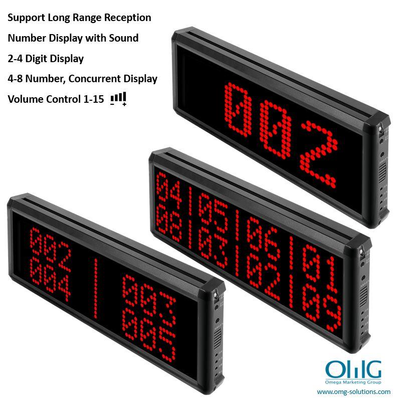 EA007-4D - Sistema d'alarma per botons d'emergència sense fils de llarga distància (pantalla de 4 dígits) - Unitat de control central - Panell de visualització