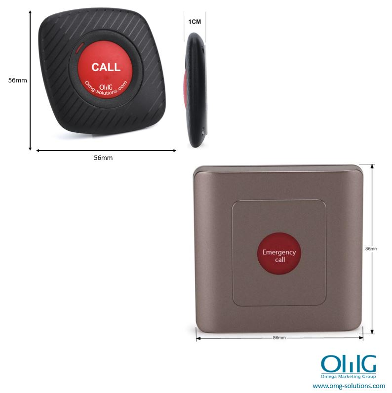 EA007-4D - Sistema d'alarma de botó de pànic d'emergència sense fils de llarga distància (pantalla de 4 dígits) - Botó polsador