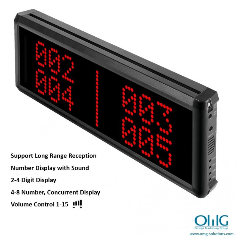 EA999-CM03 - OMG Long Distance Wireless Emergency Panic Button Alarm - Central Monitoring Display Unit (4 Digit Display)
