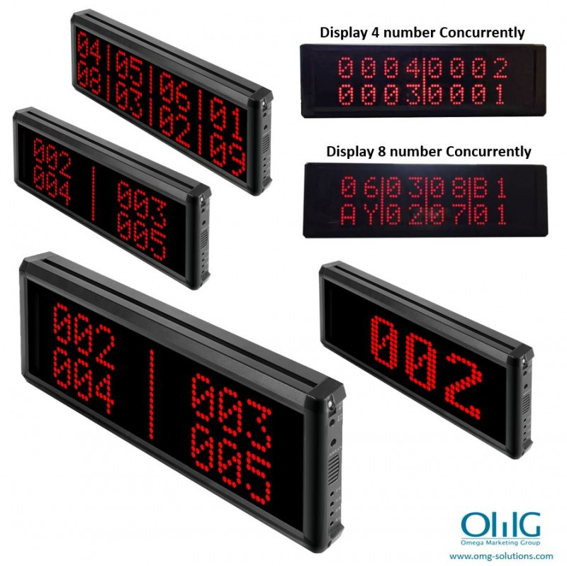 EA999-CM03 - Long Distance Wireless Emergency Panic Button - Central Monitoring Display Unit (4 Digit Display) - Multi Display