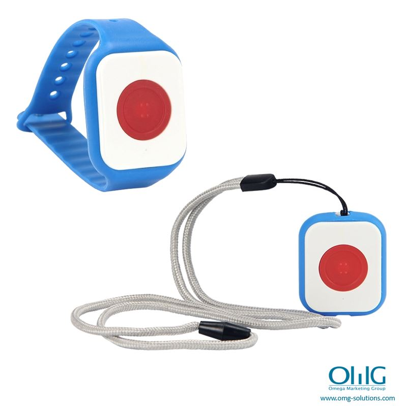 EA999-BP09 - OMG Hospital Wristband Watch Wireless Push Button with Lanyard