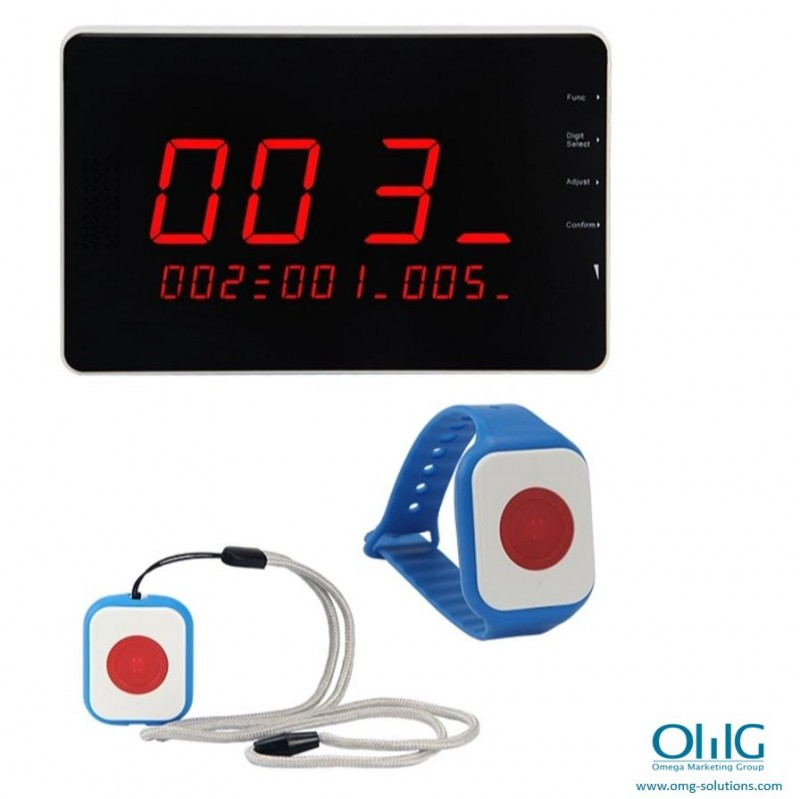 EA999-BP09 - Hospital Wristband Watch Wireless Push Button with Lanyard - with CMU with Logo