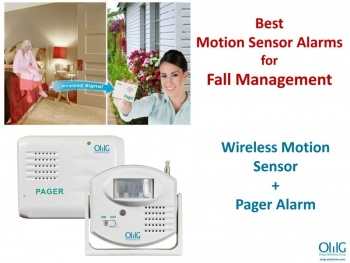EA020 – OMG Wireless Motion Sensor Pager – Alarm System for Home – Main Page View
