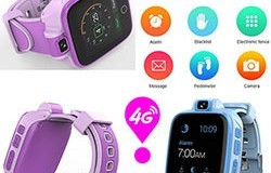 Kids GPS Tracker Watch, 4G, SOS Panggilan Darurat karo Video Call (GPS022W) - 02S 250px