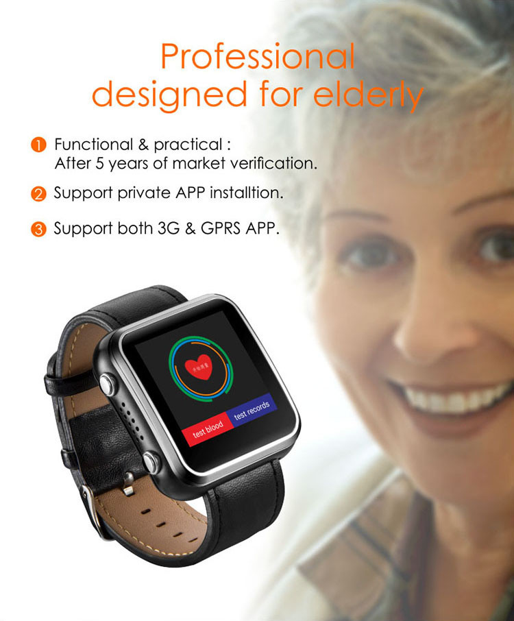 GPS027 - OMG Elderly Health Monitoring GPS Tracker Watch