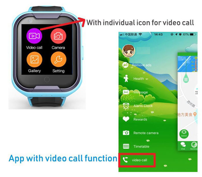 GPS033W - 4G Waterproof Video Call Watch - App with video call function