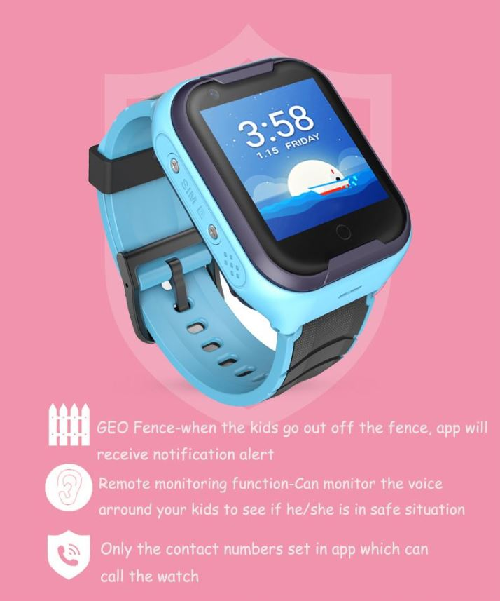 GPS033W - 4G Waterproof Video Call Watch - Kids Safety Features